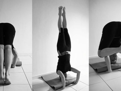 (Viparita sthiti) Inverted asanas reverse the effects of gravity. Revitalising the entire system. When the internal organs are inverted, they become energised and healthy blood flow through the brain, improving sleep. They bring relief to tired legs and strengthen the upper body.